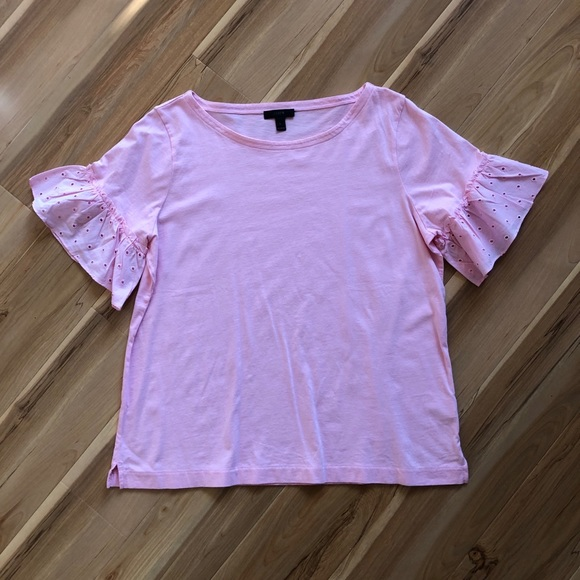 J. Crew Tops - J.Crew T-Shirt with Ruffle Detail on Sleeve